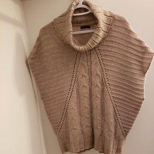 Dex Loose-Knit Short Leeves Turtleneck Sweater